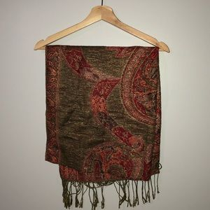 Accessories - 2/$22 — SCARF WITH FRINGE